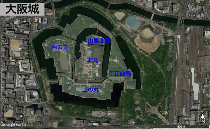 大阪城の縄張