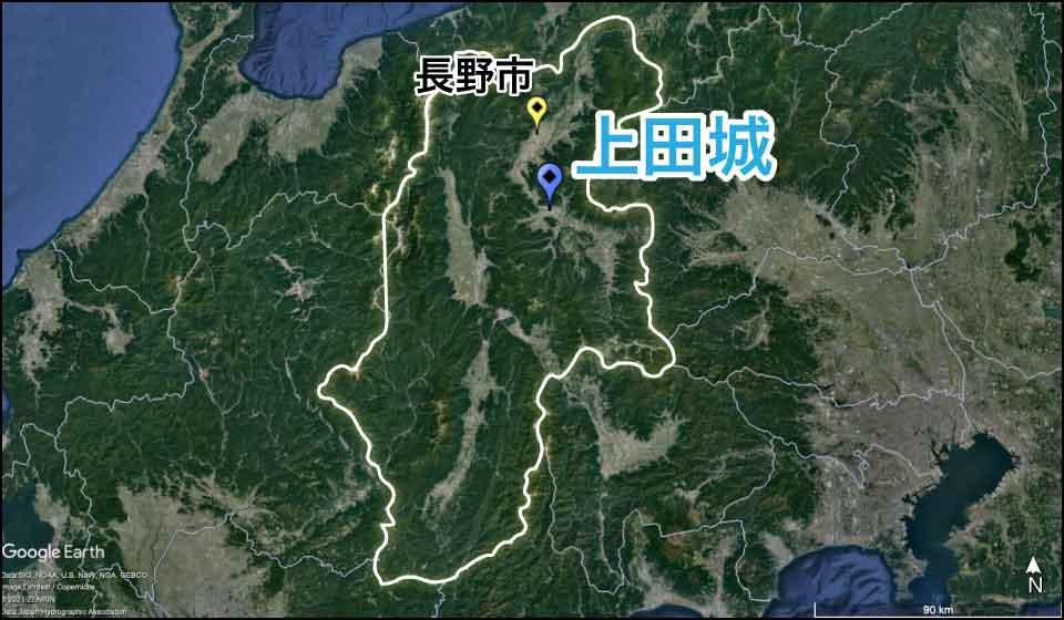 上田城の場所