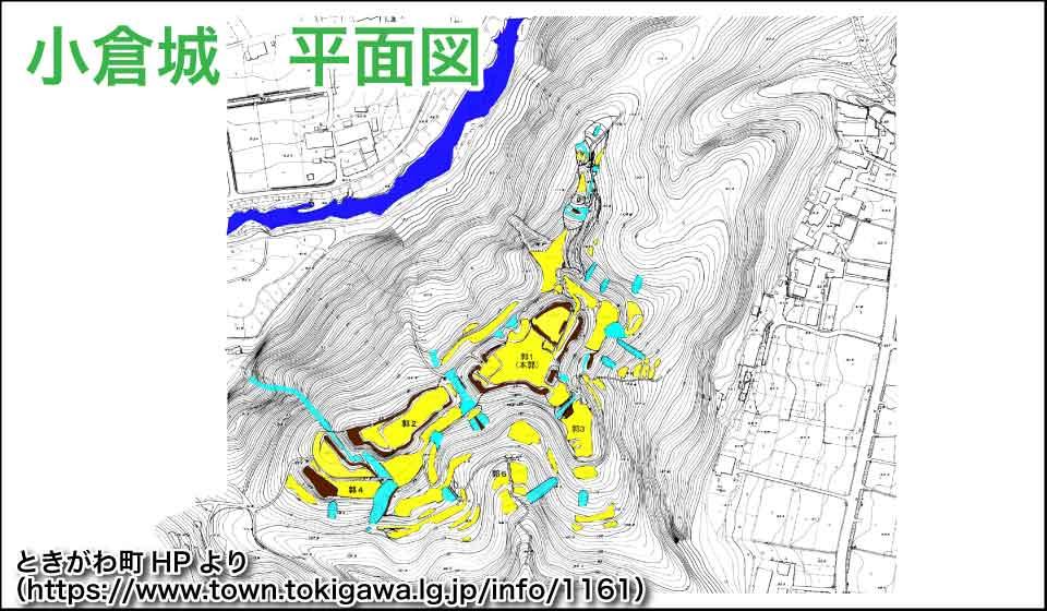 小倉城平面図